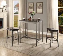 Venator by Acme 72355 Counter Height Dining 3 PC. Set