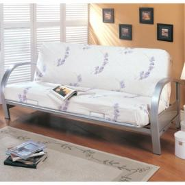 Bruce Collection 7251 Silver Metal Futon Frame