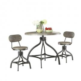 Fatima by Acme 73130 Adjustable Counter Height Dining 3 PC. Set