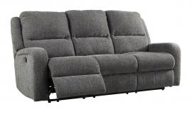 Krismen Charcoal by Ashley 7810215 Power Reclining & Power headrest Sofa