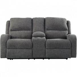 Krismen Charcoal by Ashley 7810218 Power Reclining & Power headrest Loveseat