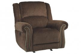 Goodlow Chocolate by Ashley 7900313 Power Rocker Recliner & Power Headrest