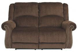 Goodlow Chocolate by Ashley 7900314 Power Reclining & Power Headrest Loveseat