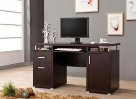 Terrence Collection 800107 Cappuccino-Finish Office Desk