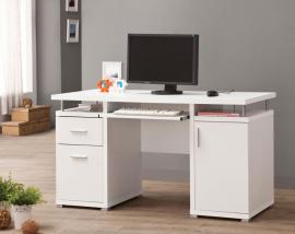 Terrence Collection 800108 White Office Desk