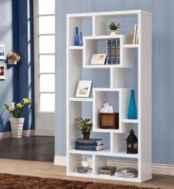 Chad Collection 800157 White Bookcase