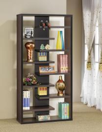 Colin Collection 800265 Cappuccino Staggered Bookcase