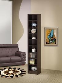 Byra Collection 800285 Nine Tier Bookcase in Cappuccino Finish