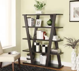 Maurice Collection 800318 Contemporary Cappuccino Bookcase