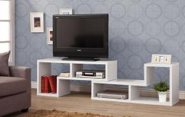 Capri Collection 800330 White Contemporary TV Stand