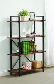 Conrad Collection 800336 Four-Tier Brown and Black Bookcase