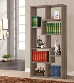 Jane Collection 800510 Weathered Grey Bookcase