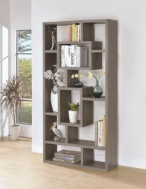 Chad Collection 800512 Weathered Grey Bookcase