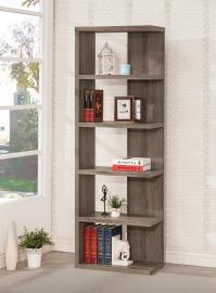 James Collection 800553 Weathered Grey Bookcase