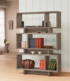 Carolyn Collection 800554 Modern-Style Weathered Grey Bookcase