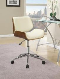 Ecru 800613 Modern Cream & Walnut Office Chair