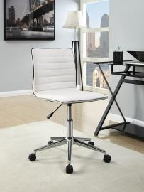 Task 800726 White & Chrome Office Chair