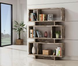 Carolyn Collection 800846 Modern-Style Salvaged Cabin Bookcase