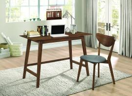 Camila Collection 801095 2-Piece Walnut-Finish Desk and Chair Set