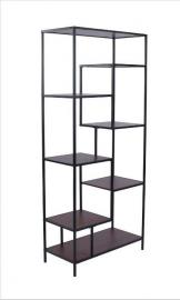 Malia Collection 801134 Narrow Seven-Shelf Bookcase