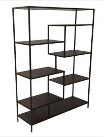 Malia Collection 801135 Wide Seven-Shelf Bookcase