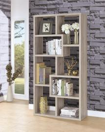 Jane Collection 801137 Grey Driftwood Bookcase