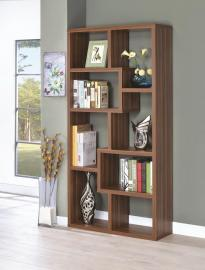 Jane Collection 801138 Walnut Bookcase