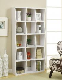 Jennifer Collection 801180 White Bookcase