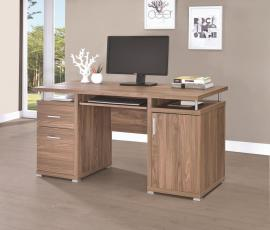 Terrence Collection 801280 Elm-Finish Office Desk