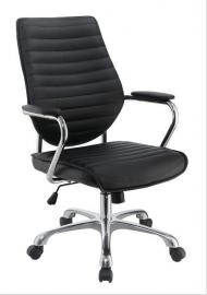 Scott Living 801327 Black Leatherette Office Chair