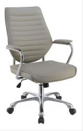 Scott Living 801328 Taupe Leatherette Office Chair