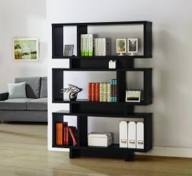 Carolyn Collection 801405 Modern-Style Cappuccino Bookcase