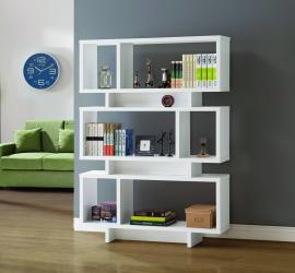 Carolyn Collection 801406 Modern-Style White Bookcase