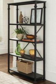 Scott Living 801439 Dark Grey Bookcase