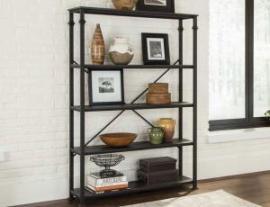 Scott Living 801440 Dark Grey Double Bookcase