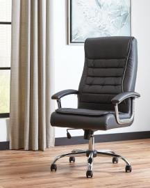 Scott Living 801528 Black Leatherette Office Chair