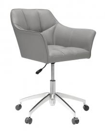 Scott Living 801538 Gray Leatherette Office Chair