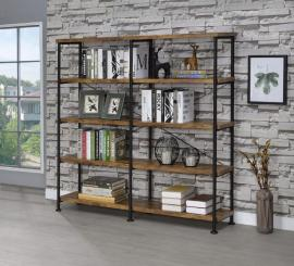Kellen Collection 801543 Nutmeg Brown and Black Double Bookcase