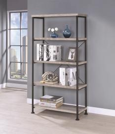 Hollander Collection 801546 Grey and Black Bookcase