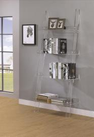 Bridget Collection 801553 Clear Acrylic Ladder Bookcase