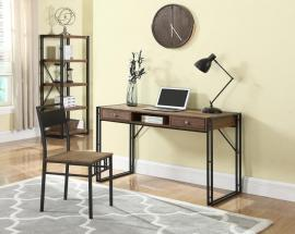 Pauleen Collection 801741 Two-Piece Weathered Chestnut Desk and Chair