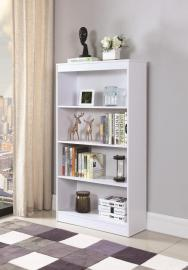Blanca Collection 801797 Four-Tier White Bookcase