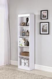 Carlson 801799 White Narrow Bookcase