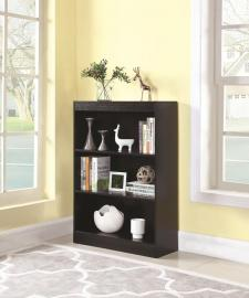 Braxton Collection 801801 Three-Tier Cappuccino Bookcase