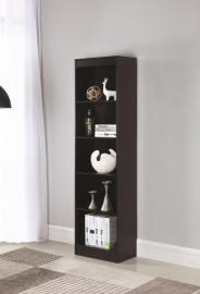 Rhonda Collection 801804 Narrow Cappuccino Bookcase