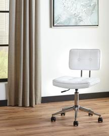 Scott Living 802289 White Leatherette Office Chair