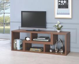 Walnut Finish 802329 Bookcase/TV Stand