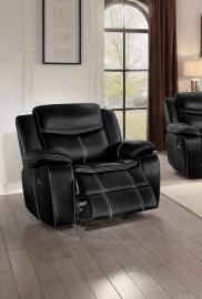 Barstrop Collection by Homelegance Reclining Chair 8230BLK-1