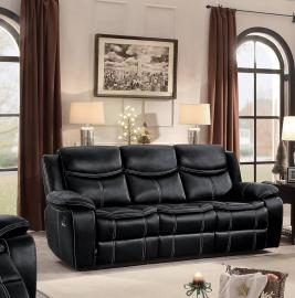 Barstrop Collection by Homelegance Reclining Sofa 8230BLK-3