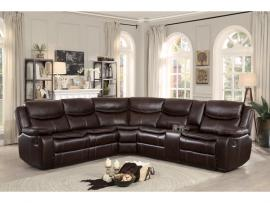 Barstrop  Leather Sectional 8230BRW by Homelegance